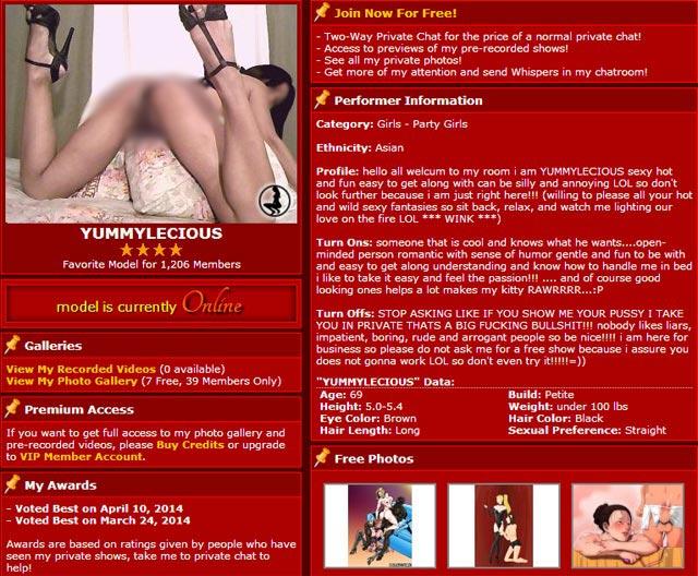 Asian Webcam Live Models Profile