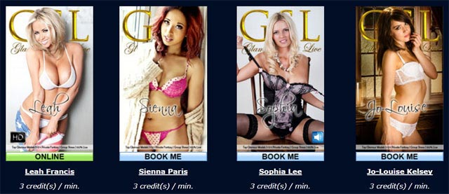 glamour stars live models