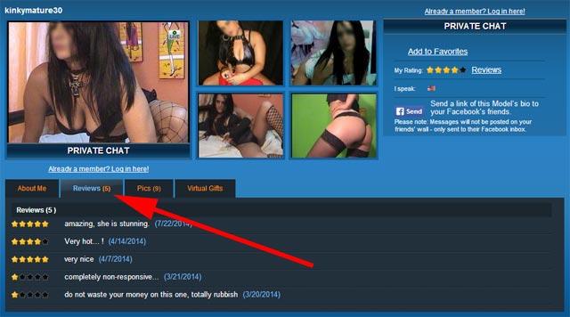 sexier.com milf live cam profile