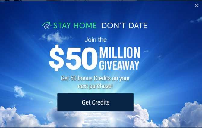 Imlive special convid-19 stay home offer - 50 free credit on top pf your purchase
