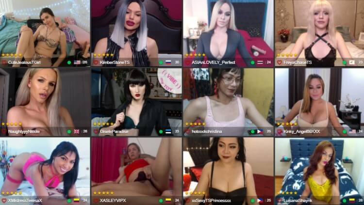Trans Cam Models at TS Mate - Shemale Cam Reviews by Livecamreviews.net